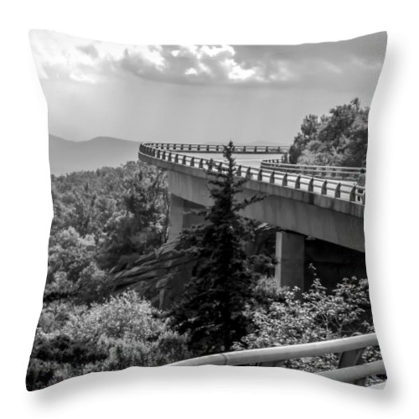 The LONG and WINDING ROAD Throw Pillow by KAREN WILES