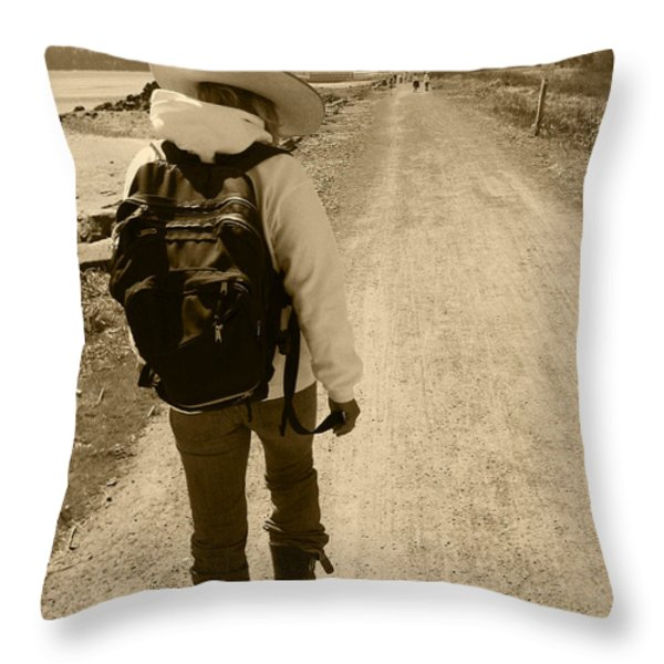 The Long And Winding Road Throw Pillow by Kym Backland
