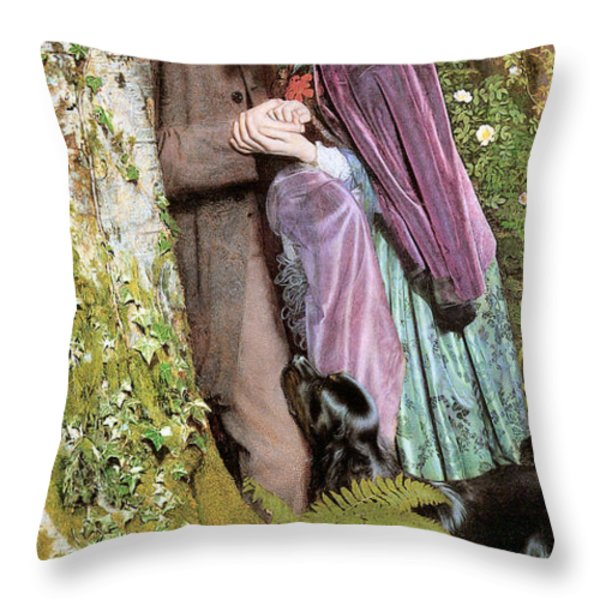 The Long Engagement Throw Pillow by Arthur Hughes