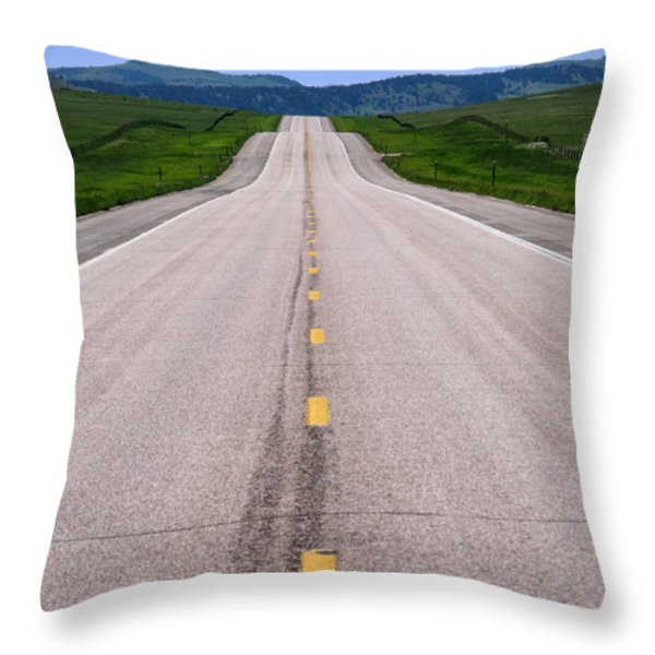The Long Road Ahead Throw Pillow by Olivier Le Queinec