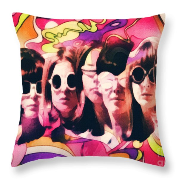 The Look Throw Pillow by Mo T