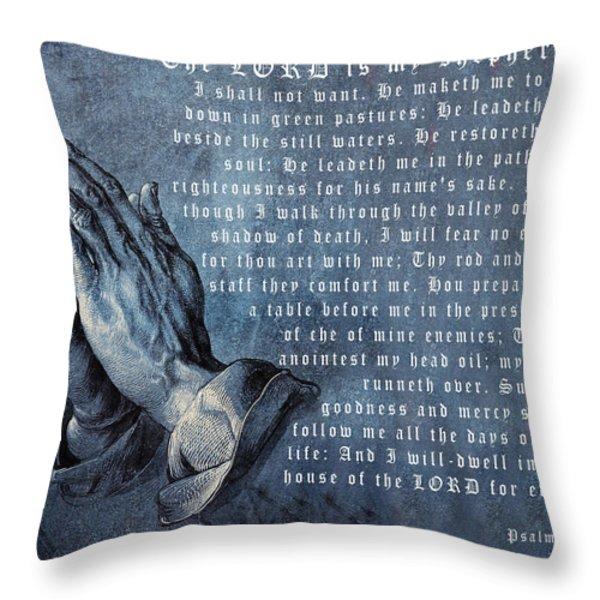 The Lord Is My Shepherd Throw Pillow by Albrecht Durer