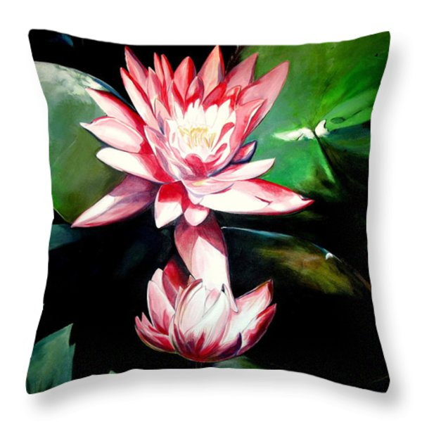 The Lotus Throw Pillow by John  Duplantis