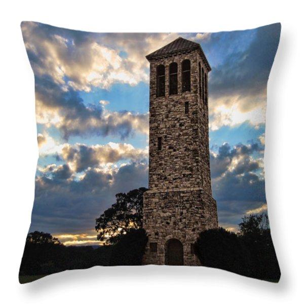 The Luray Singing Tower Throw Pillow by Lara Ellis