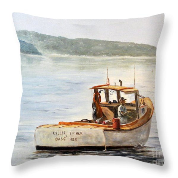 The Lyllis Esther Throw Pillow by Lee Piper