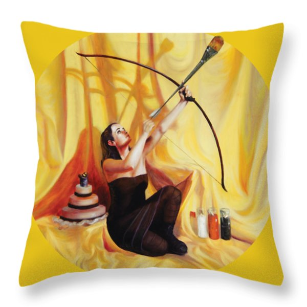 The Markswoman Throw Pillow by Shelley  Irish