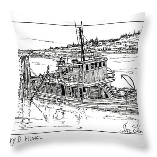 The Mary D. Hume Throw Pillow by Ira Shander