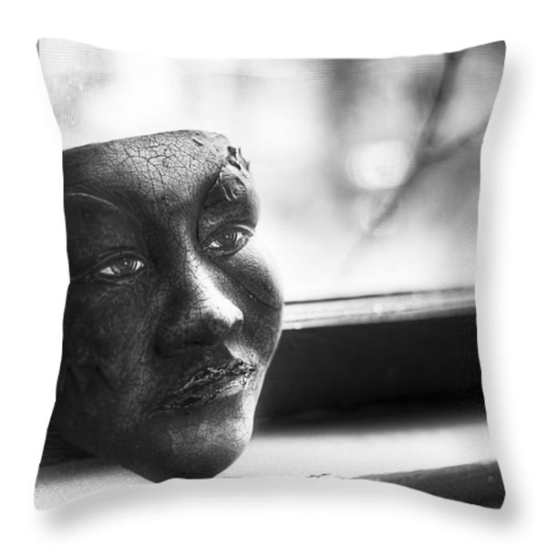 The Mask Throw Pillow by Scott Norris