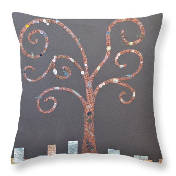 The Menoa Tree Throw Pillow by Angelina Vick