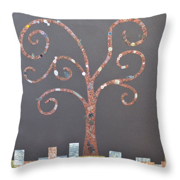 The Menoa Tree Throw Pillow by Angelina Vick