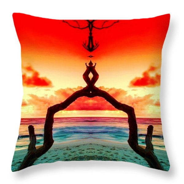 The Merger Throw Pillow by M and L Creations