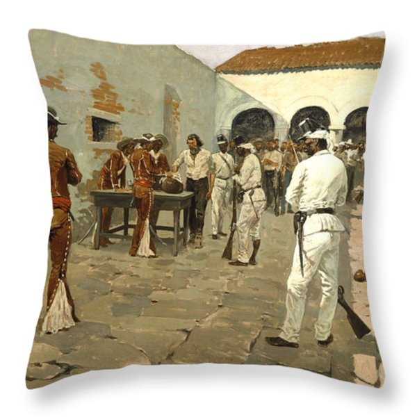 The Mier Expedition Throw Pillow by Fredrick Remington