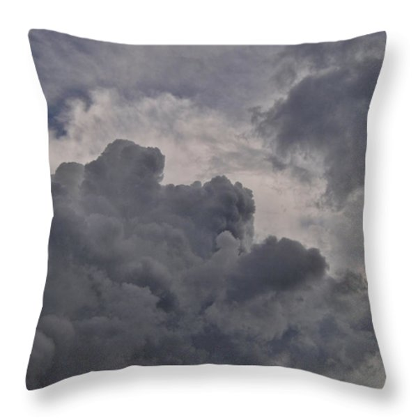 The Mighty Hand Of God Throw Pillow by Paulette B Wright