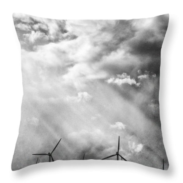 THE MIGHTY WIND Palm Springs Throw Pillow by William Dey