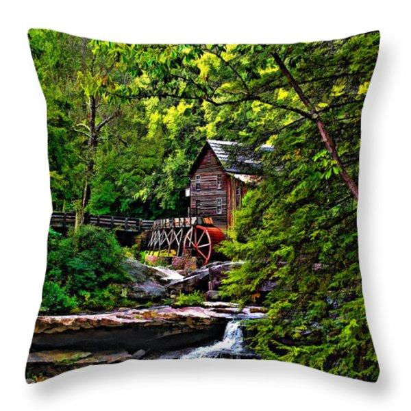 The Mill paint 2 Throw Pillow by Steve Harrington