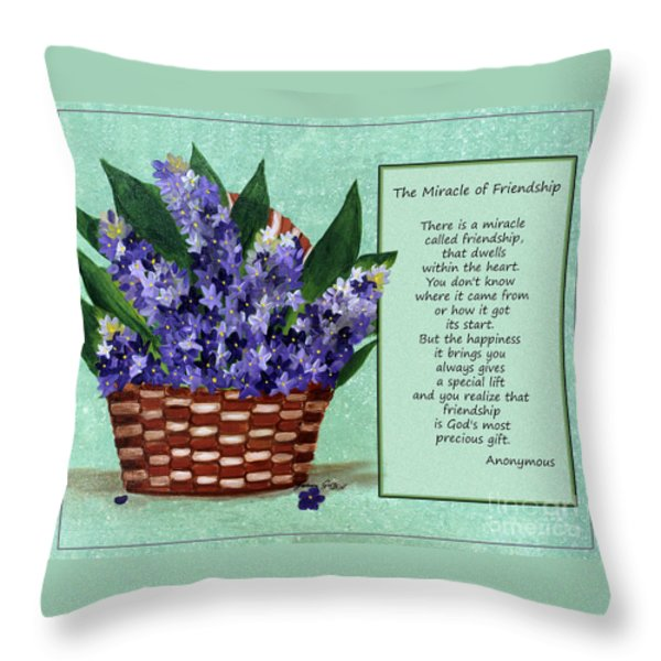 The Miracle of Friendship Throw Pillow by Barbara Griffin