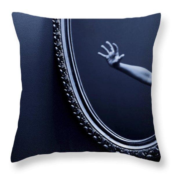 The Mirror Throw Pillow by Diane Diederich