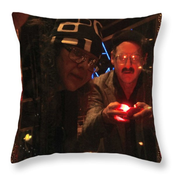The Mirror Has A Glow Throw Pillow by Kym Backland