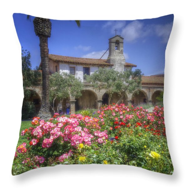 The Mission Throw Pillow by Joan Carroll