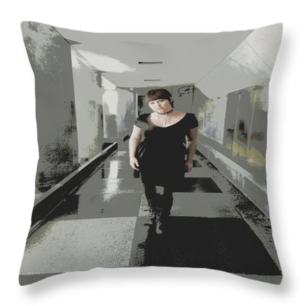 The Mix Throw Pillow by Nick David