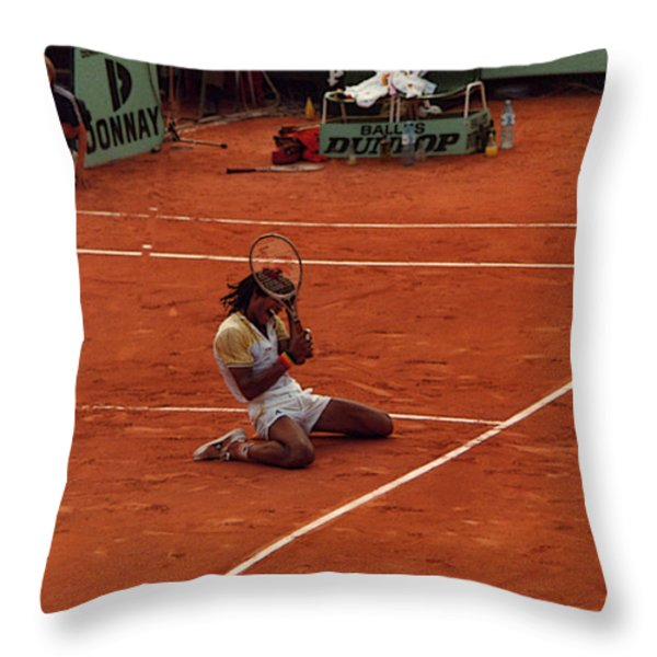 The Moment Of Victory Throw Pillow by Scarebaby Design