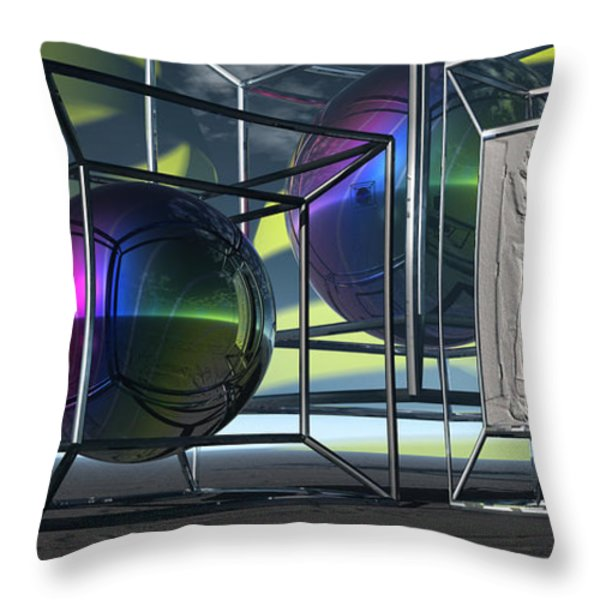 The Monument Of A Naked Man In The Geometry Of God Throw Pillow by Jon D Gemma