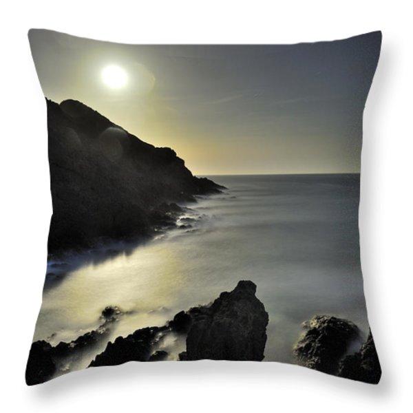 The Moon Throw Pillow by Guido Montanes Castillo