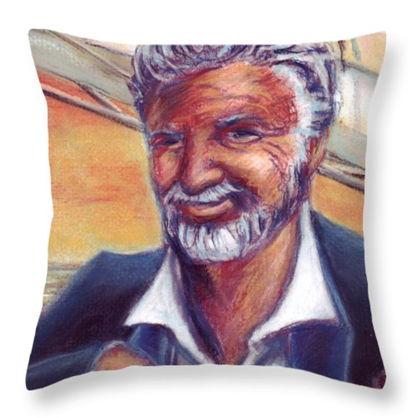 The Most Interesting Man in the World Throw Pillow by Samantha Geernaert