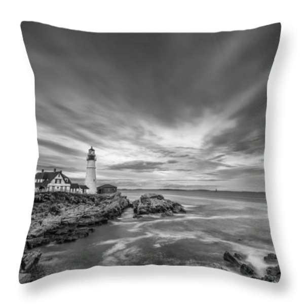 The Motion of the Lighthouse Throw Pillow by Jon Glaser