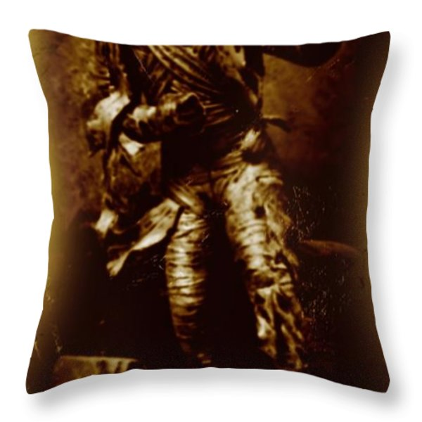 The Mummy Document Throw Pillow by John Malone