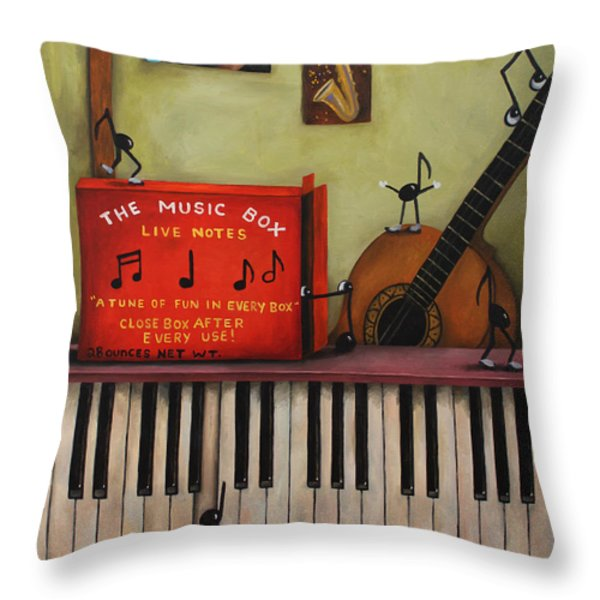 The Music Box Throw Pillow by Leah Saulnier The Painting Maniac