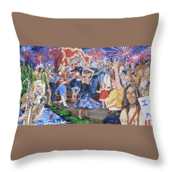 The Music Never Stopped Throw Pillow by Bryan Bustard