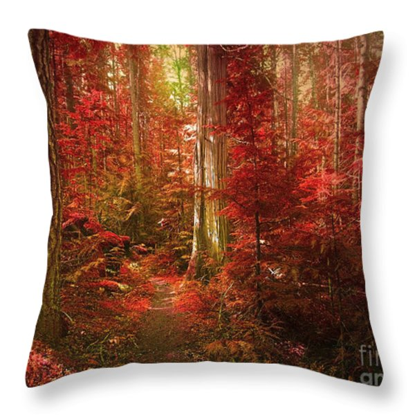The Mystic Forest Throw Pillow by Tara Turner