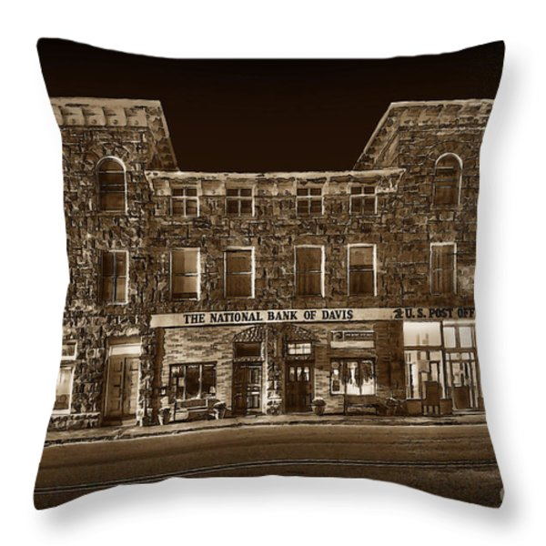 The National Bank Of Davis Wv Throw Pillow by Dan Friend