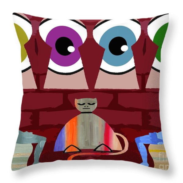 THE NEGOTIATIONS Throw Pillow by Patrick J Murphy