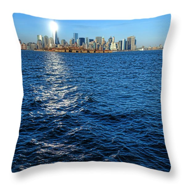 The New Beacon Throw Pillow by Olivier Le Queinec