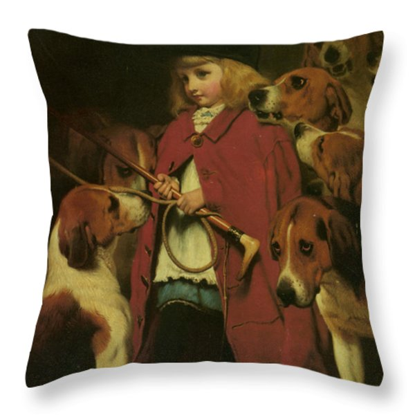 The New Whip Throw Pillow by Charles Burton Barber