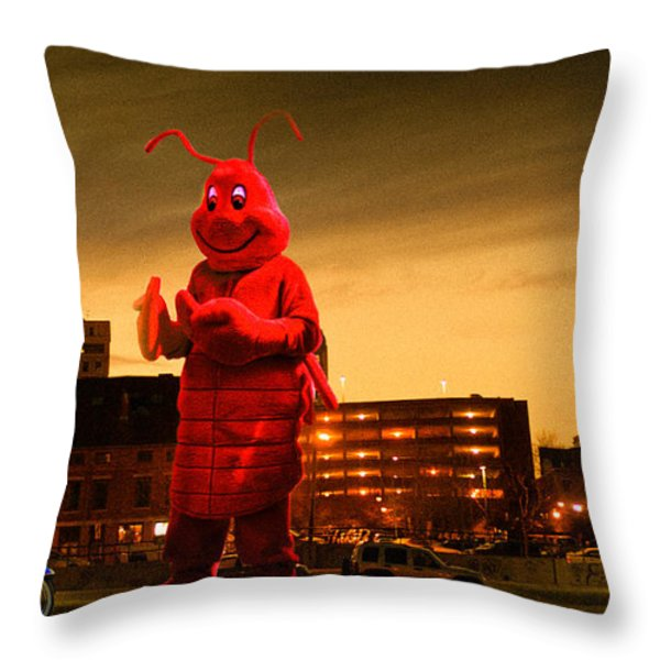 The Night Of The Lobster Man Throw Pillow by Bob Orsillo