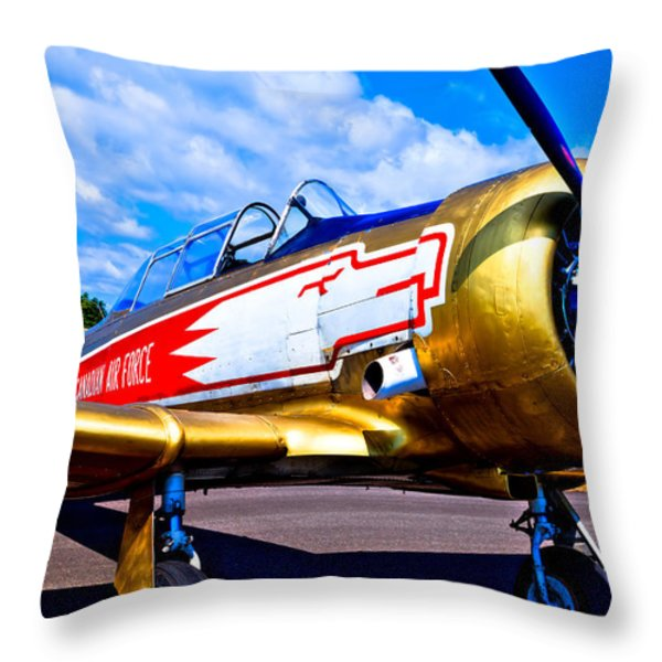 The North American T-6 Texan Airplane Throw Pillow by David Patterson