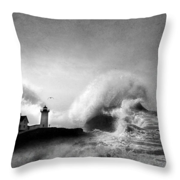 The Nubble in Trouble Throw Pillow by Lori Deiter