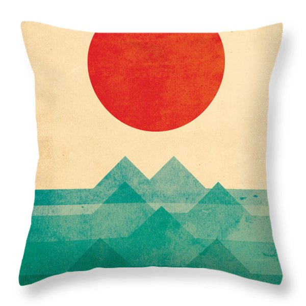 The Ocean the sea the wave Throw Pillow by Budi Kwan