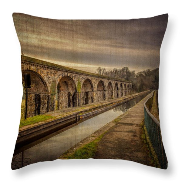 The Old Aqueduct Throw Pillow by Adrian Evans