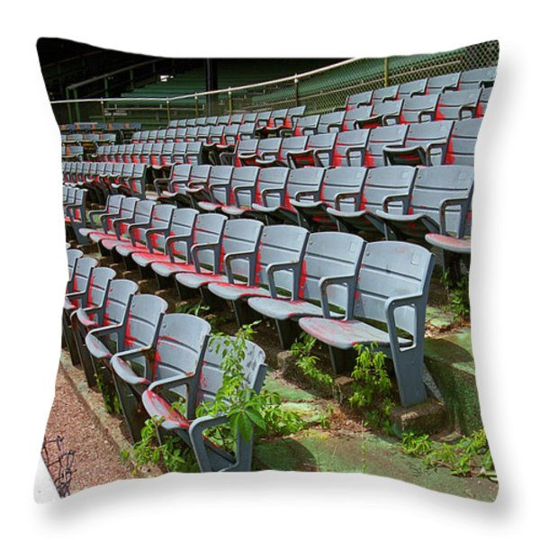 The Old Ballpark Throw Pillow by Frank Romeo