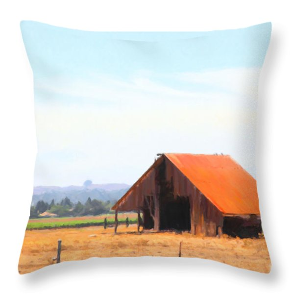 The Old Barn 5d24404 Throw Pillow by Wingsdomain Art and Photography