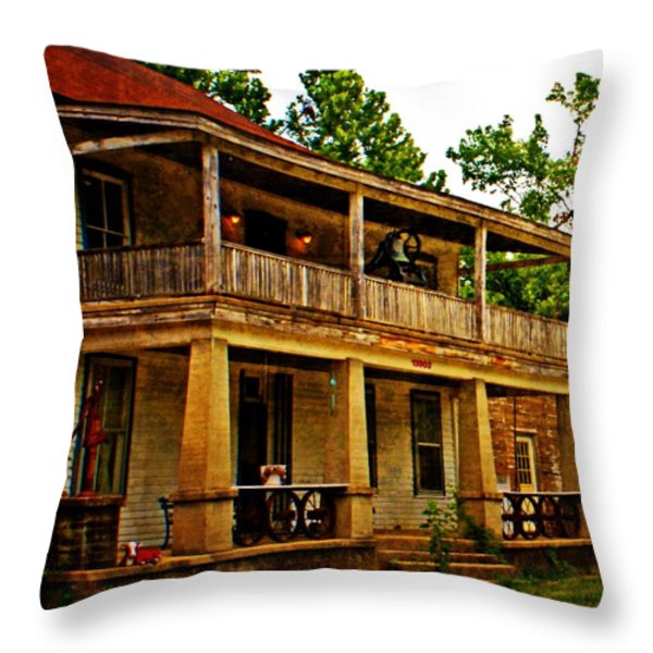 The Old Boarding House Throw Pillow by Marty Koch