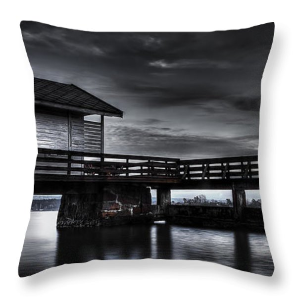 The Old Boat House Throw Pillow by Erik Brede