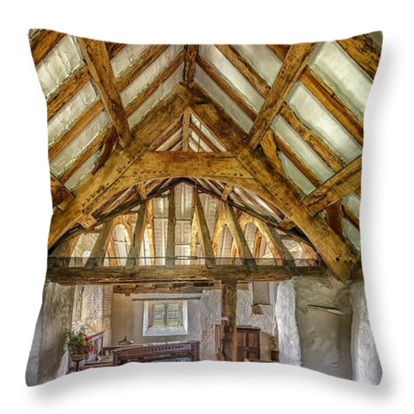 The Old Church Throw Pillow by Adrian Evans