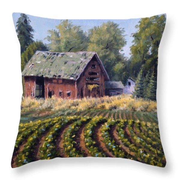 The Old Farmstead Throw Pillow by Rick Hansen