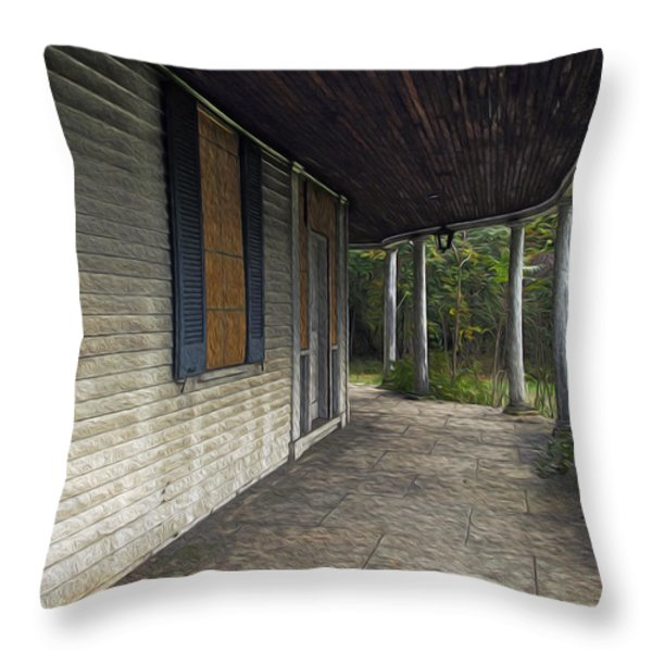 The Old Lowman House Throw Pillow by Brian Wallace