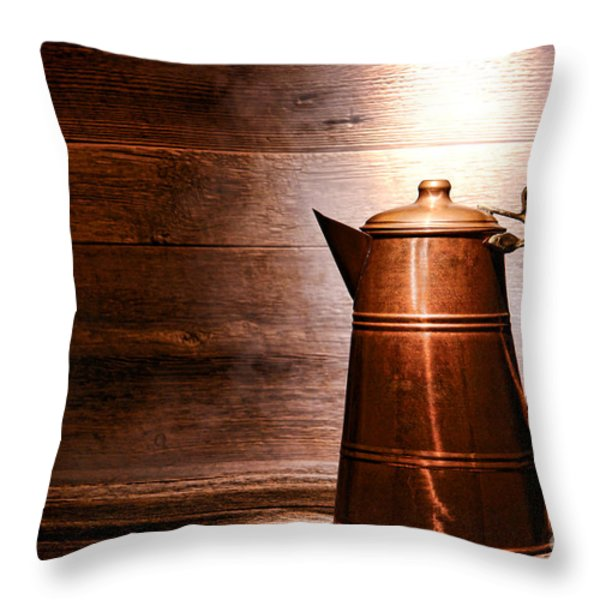 The Old Pitcher Throw Pillow by Olivier Le Queinec